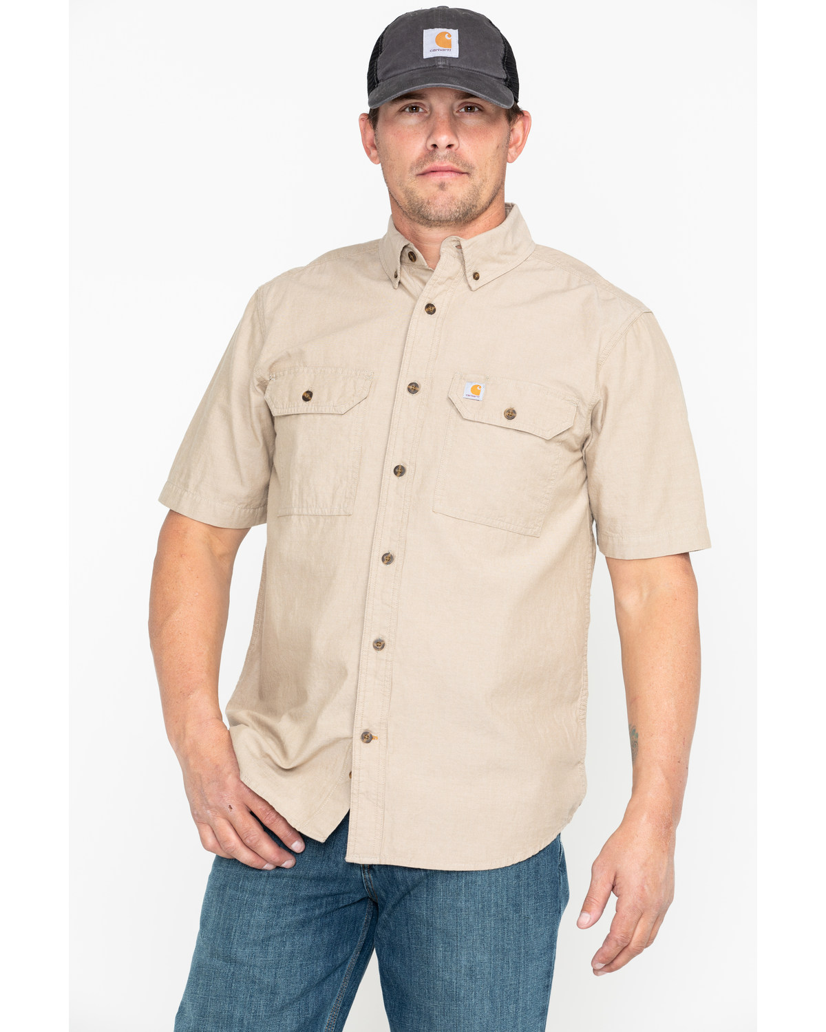 Key Industries Mens Fire Resistant Button Down Long Sleeve Chambray Shirt