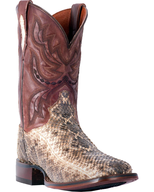0ba3ba1fa0d7 Dan Post Men s Natural Poison Rattlesnake Boots - Square Toe