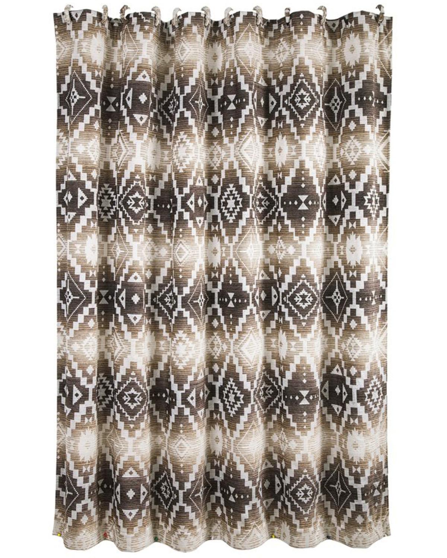 HiEnd Accents Chalet Aztec Shower Curtain Multi Hi Res