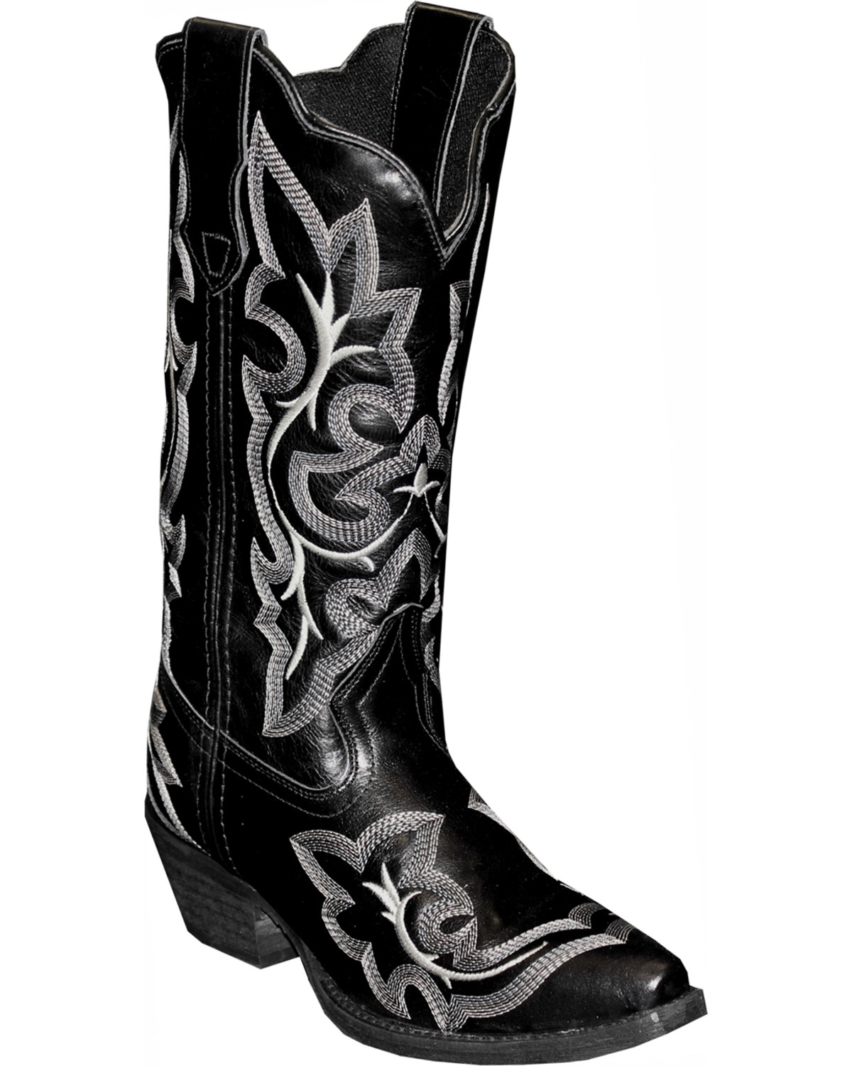 Rawhide By Abilene Fancy Stitch Embroidered Western Boots
