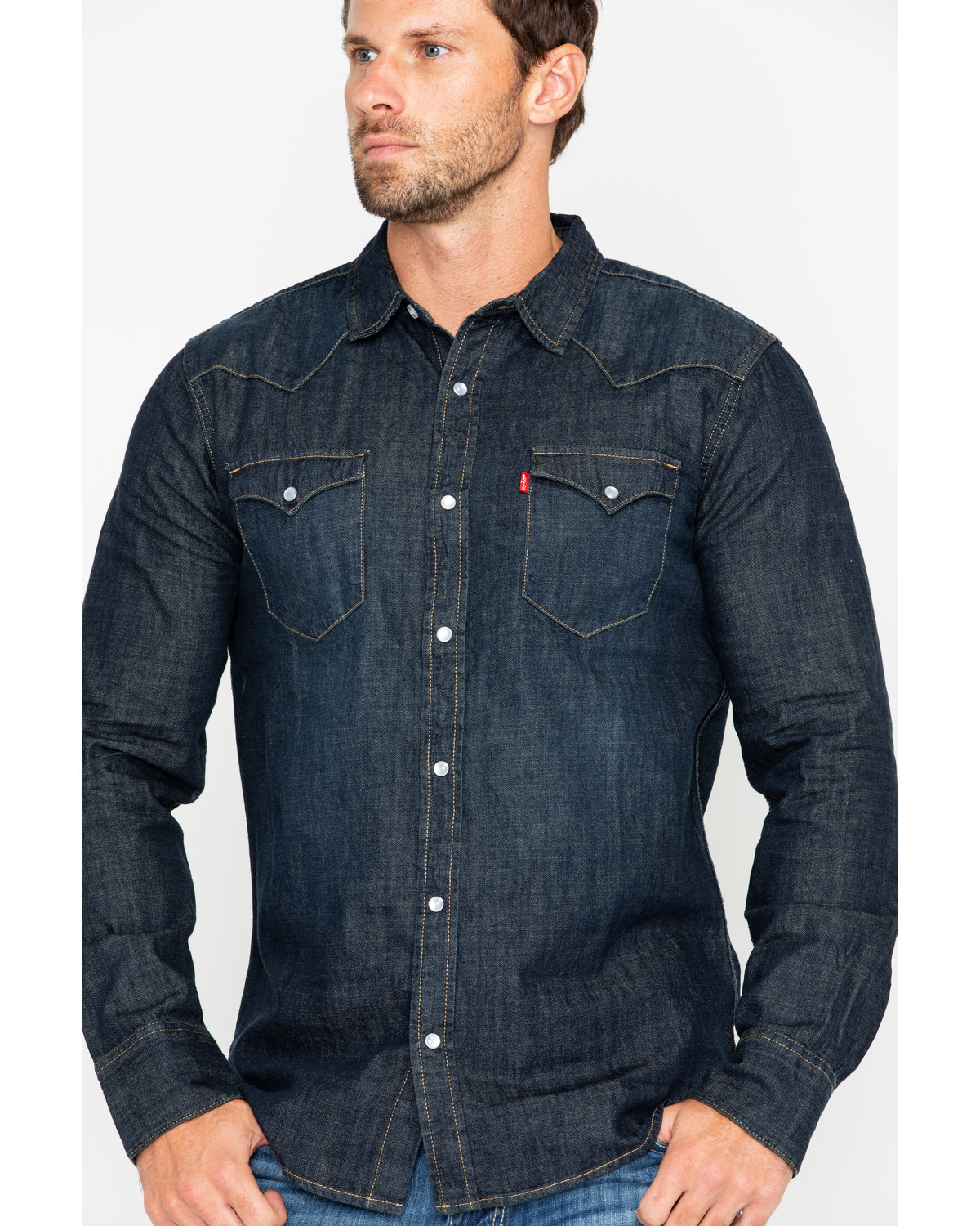 230f507a20 Levi s Men s Boulder Denim Long Sleeve Western Shirt