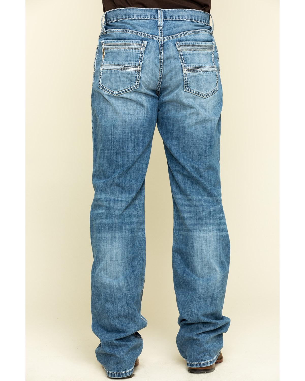 Cinch Men/'s Grant Light Stone Performance Stretch Décontractée Bootcut Jeans Indigo