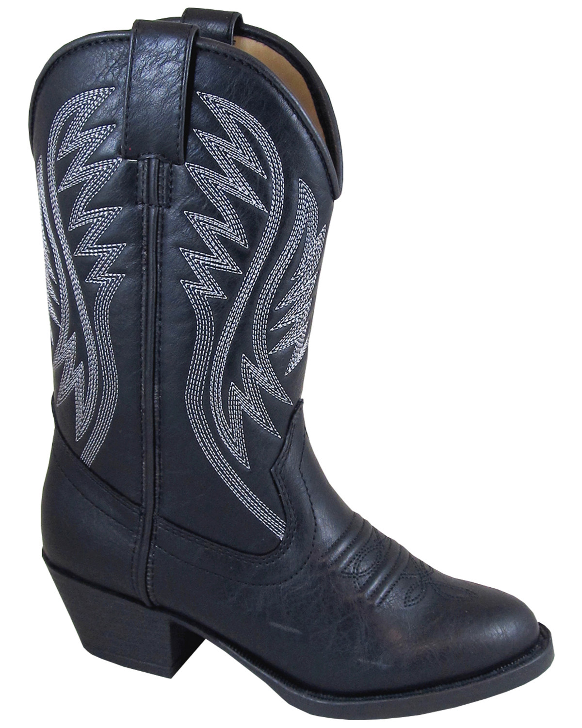 Smoky Mountain Girls Mesquite Western Boot Round Toe Black 7 D