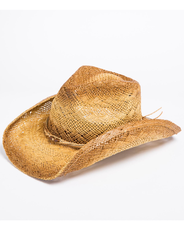 Shyanne Women s Distressed Crochet Cowgirl Hat  3557c63f68f