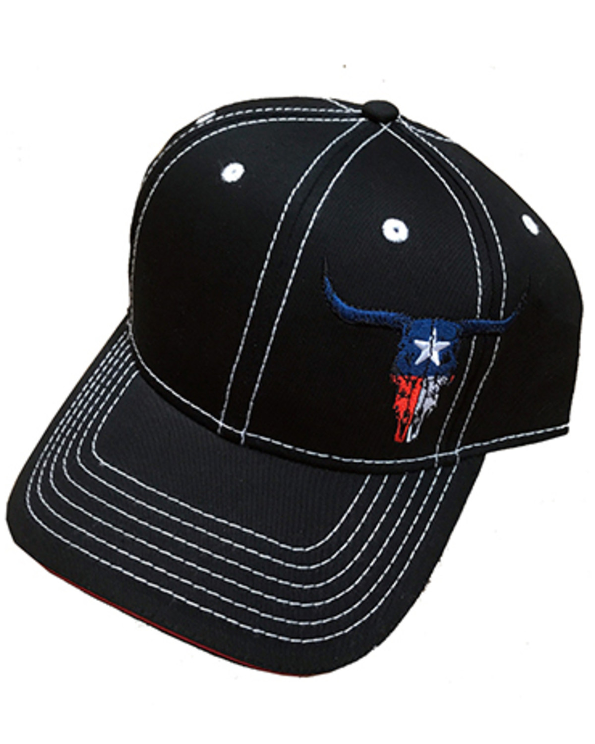 eedf0d3cd405b6 ... uk cowboy hardware texas skull ball cap black hi res 420d7 caca9