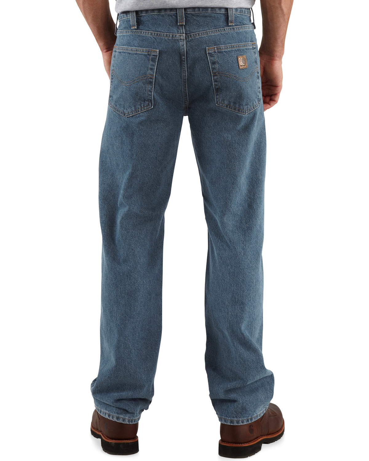 1bf12ed0f82 Zoomed Image Carhartt Men's Traditional-Fit Straight-Leg Jeans, Dark Denim,  ...