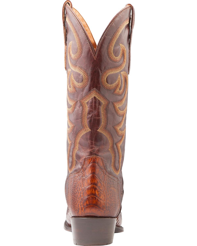 El Dorado Men S Handmade Ostrich Leg Brass Western Boots