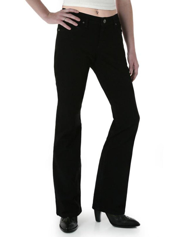 e30357b0 Zoomed Image Wrangler Women's Black Magic Ultimate Riding Q-Baby Jeans -  Plus , Black, hi