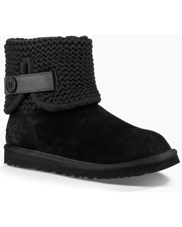 d18b917a6fc UGG Women's Black Shaina Boots - Round Toe