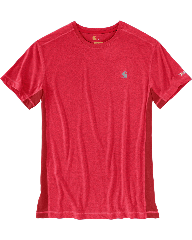 08466d55e Carhartt Men's Crimson Heather Force Extremes Short Sleeve T-Shirt