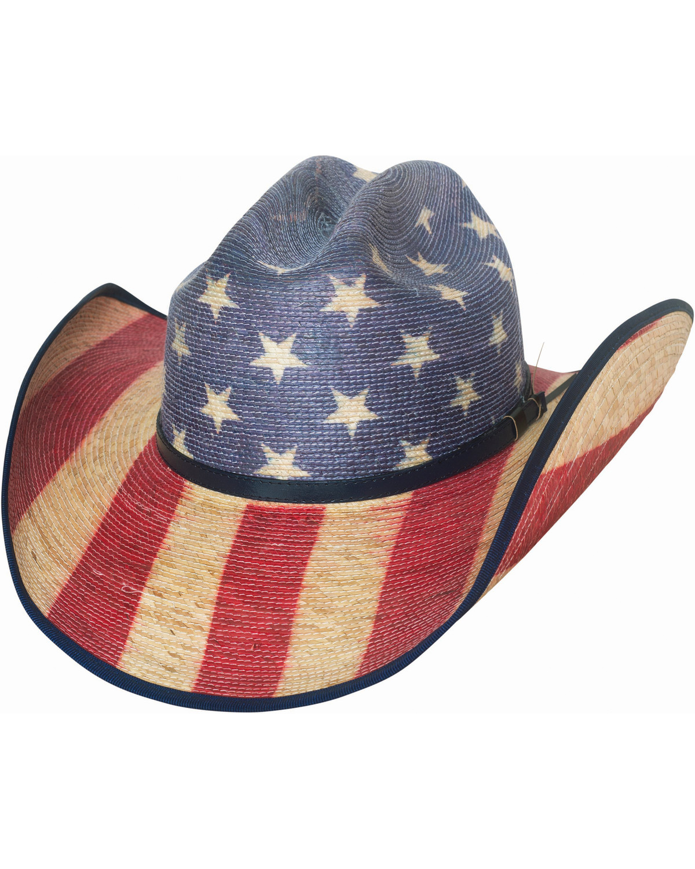 Bullhide Star Spangled 20X American Flag Cowboy Hat  660ab13fc118