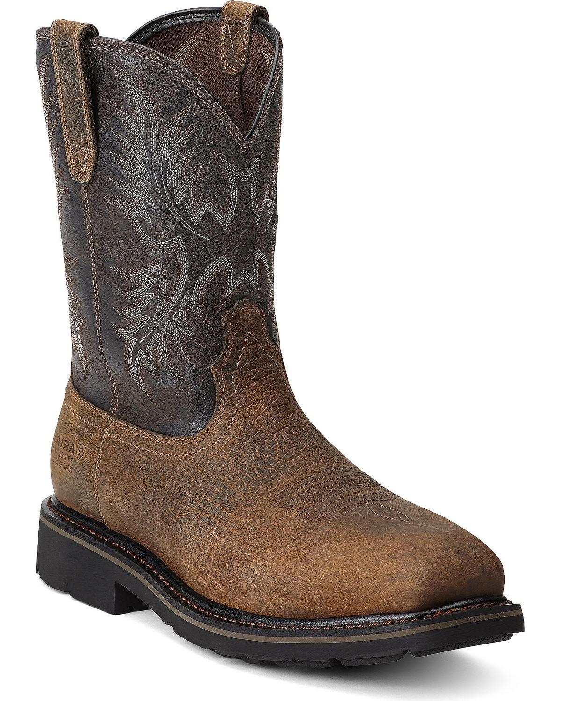 a4f6c655172 Ariat Men's Sierra Wide Square Steel Toe Work Boots