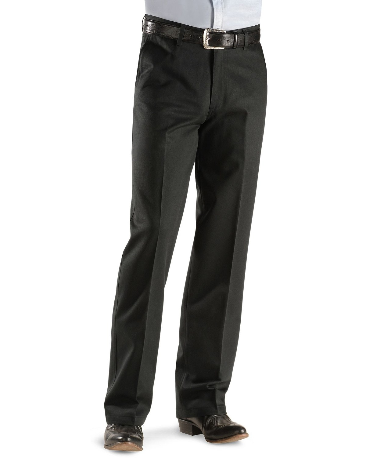 e645e8fa Wrangler Men's Riata Flat Front Relaxed Fit Pants