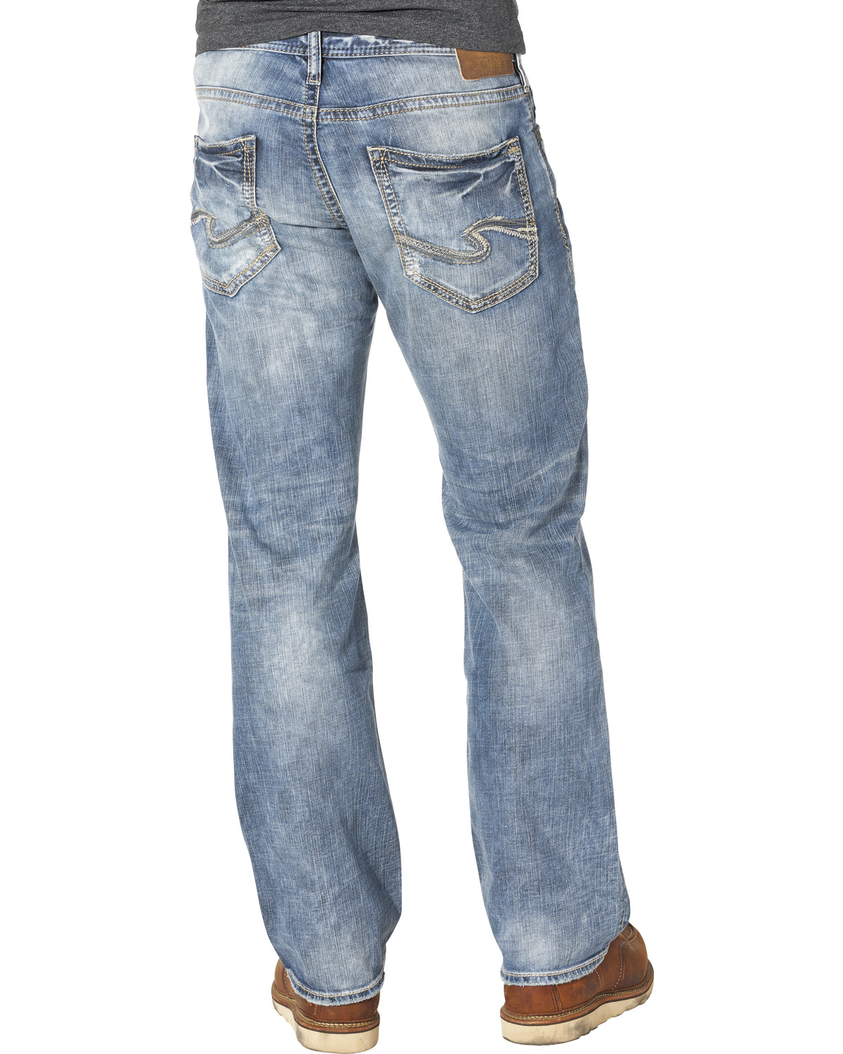 7b4cda86 Zoomed Image Silver Men's Zac Relaxed Fit Straight Leg Jeans, Indigo, ...