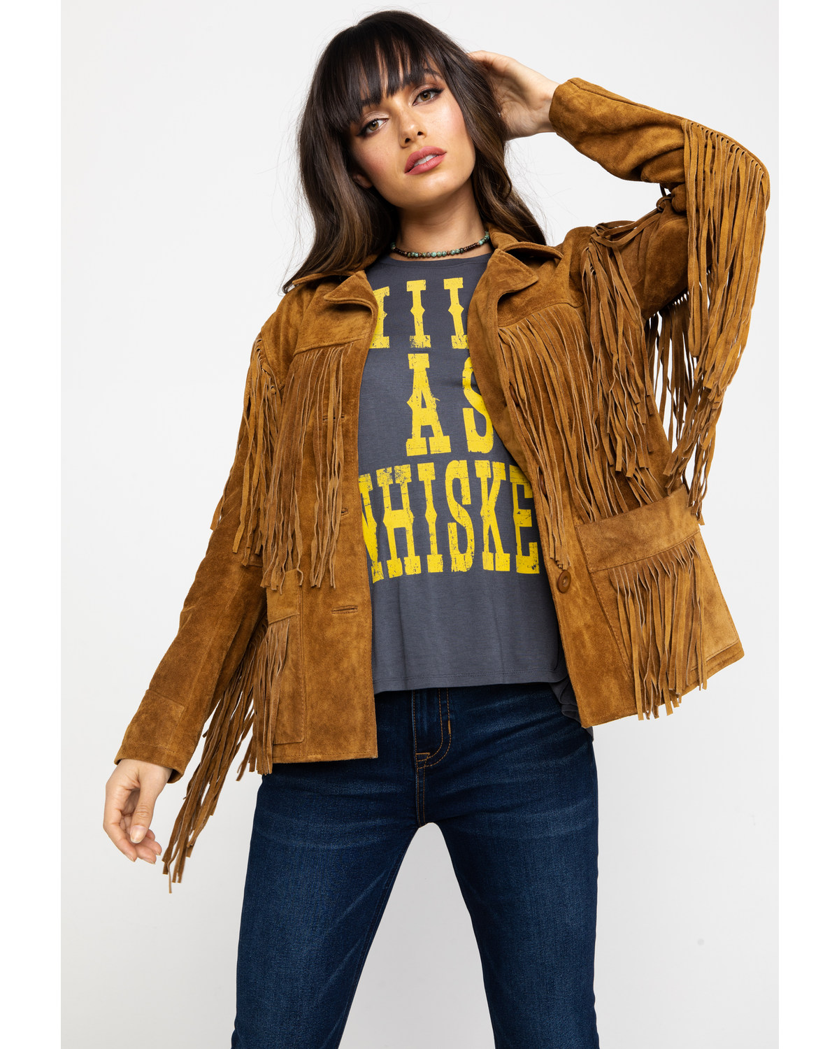 666344e24 Liberty Wear Fringe Leather Jacket