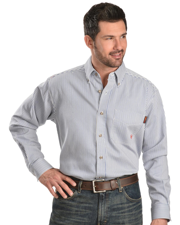 977046f673b Ariat Men s Woven Plaid Print Fire Resistant Work Shirt