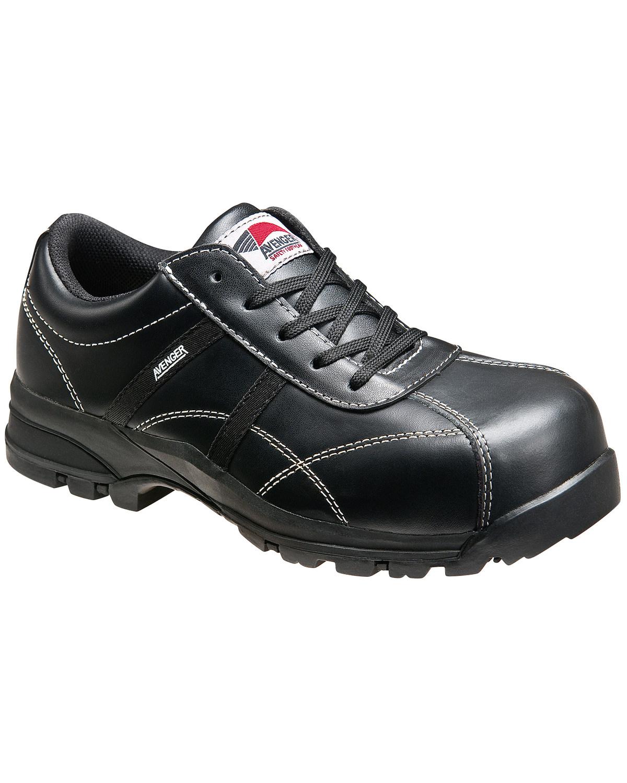 Avenger Women s Black Oxford Work Shoes - Composite Toe  900ee427a2