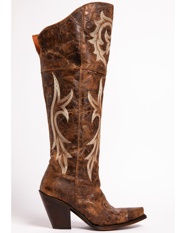 f021003b02d Dan Post Women s Jilted Knee High Western Boots