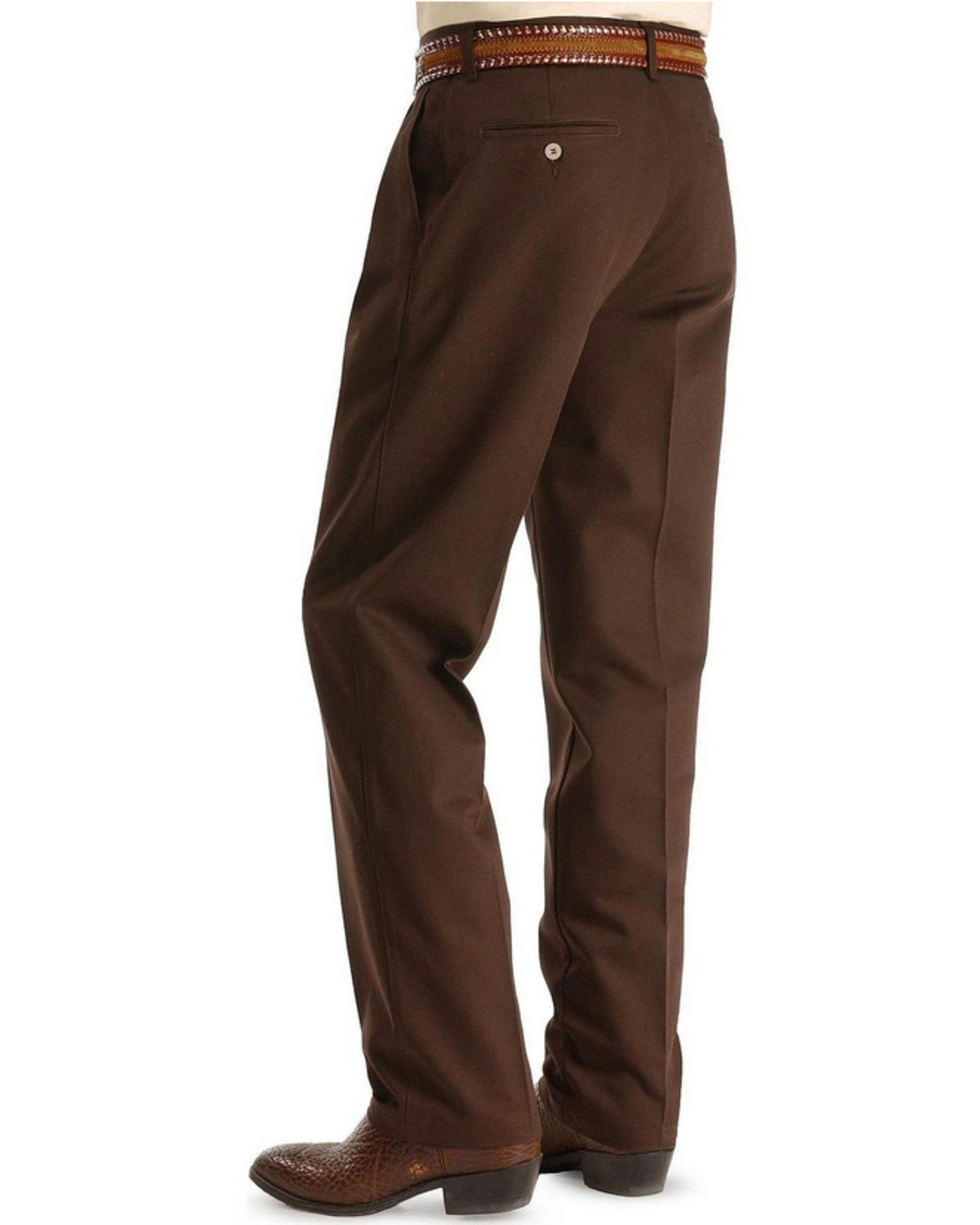 2a84acfd Zoomed Image Wrangler Slacks - Riata Relaxed Fit, Dark Brown, hi-res