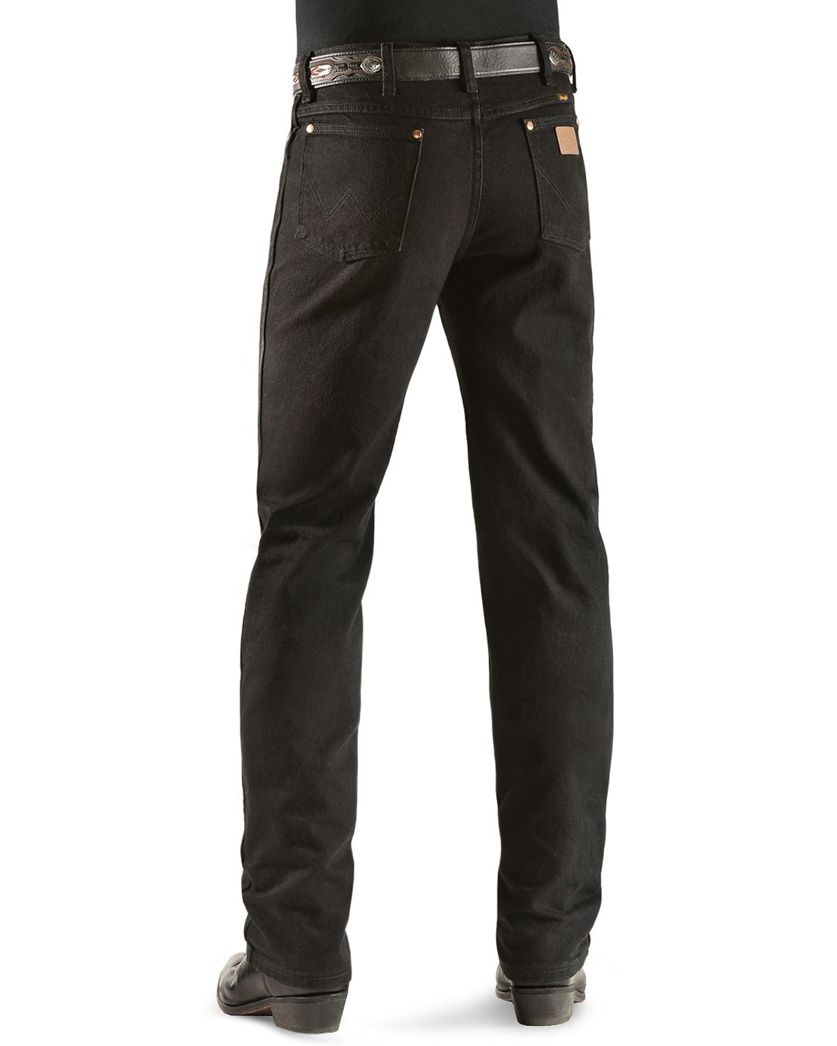 2b4ab6c5 Zoomed Image Wrangler Men's Slim Fit 936 Cowboy Cut Jeans, Shadow Black, ...