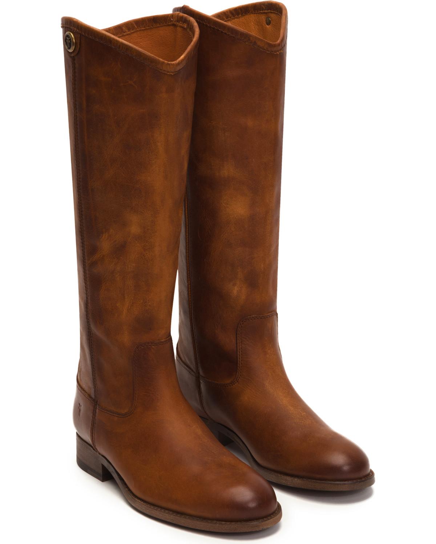 77a65eae964 Frye Women s Cognac Melissa Button 2 Tall Boots - Round Toe