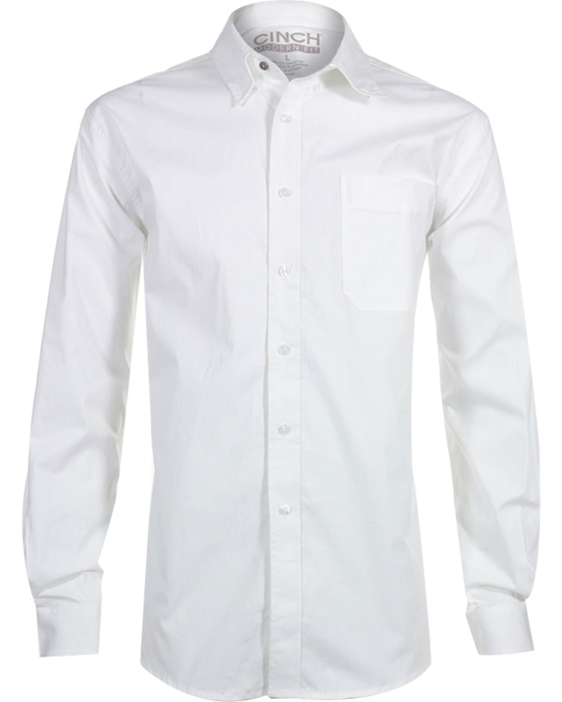 Cinch Men's White Modern Fit Long Sleeve Western Shirt