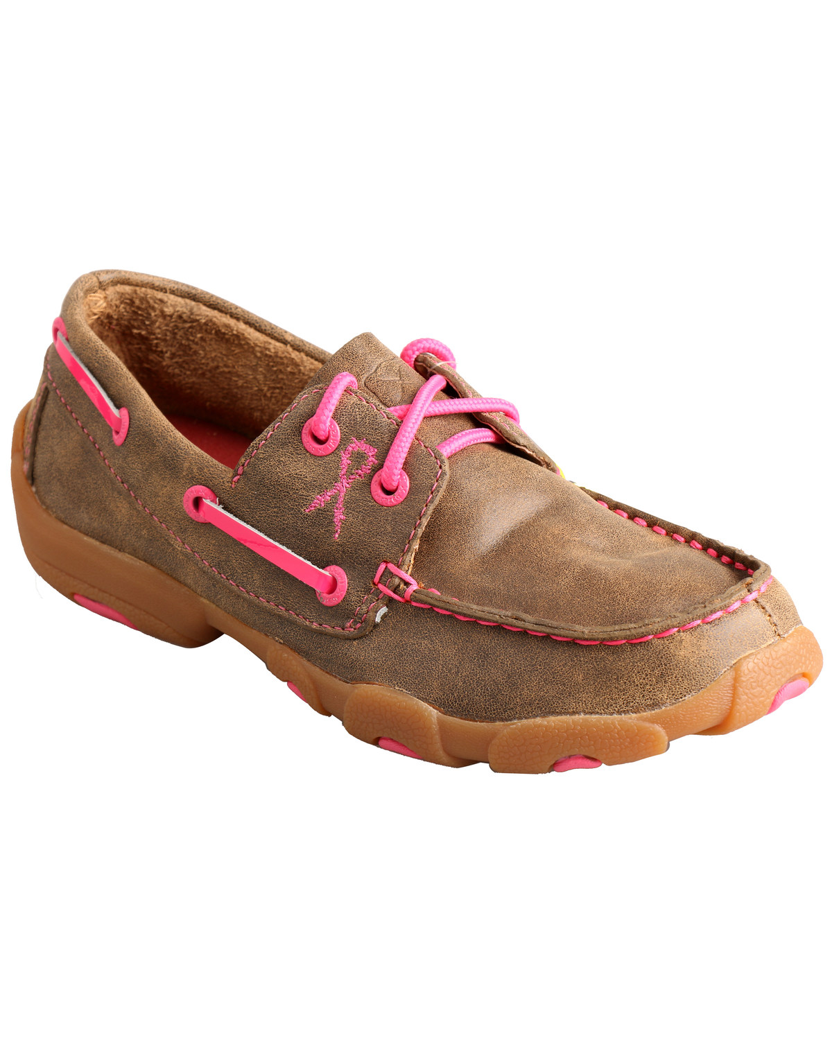 066e76f0ec10 Zoomed Image Twisted X Kids' Breast Cancer Awareness Driving Moccasins,  Bomber, hi-res