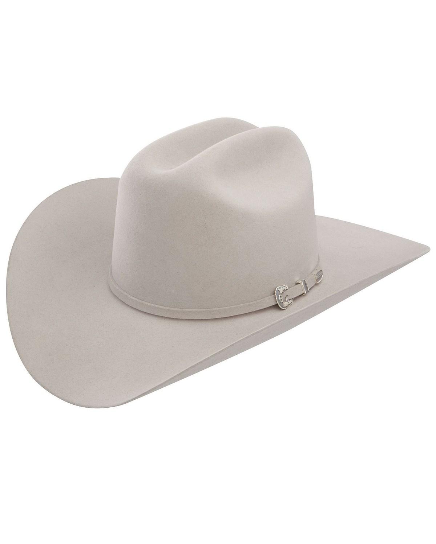 3dc736ee25128 Stetson 6X Skyline Silver Grey Fur Felt Cowboy Hat