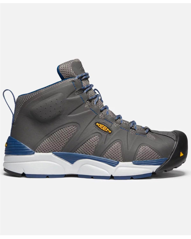 Keen Men S Grey San Antonio Work Boots Aluminum Toe
