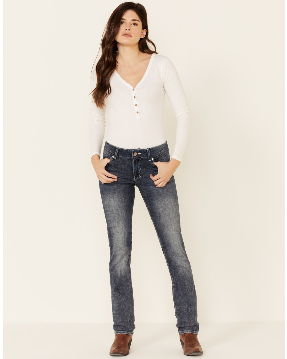 wrangler womens all cotton straight jeans