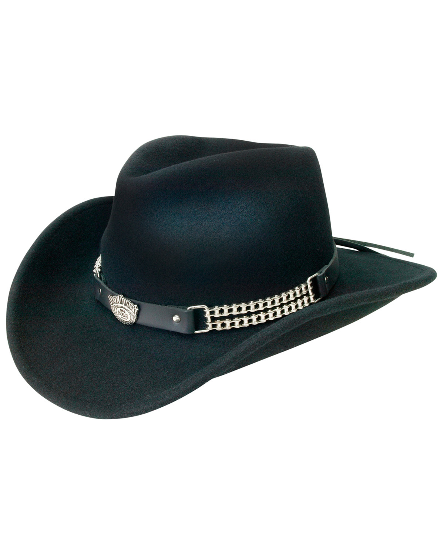 Jack Daniel s Crushable Wool Motorcycle Chain Hat  17216c5c49ef