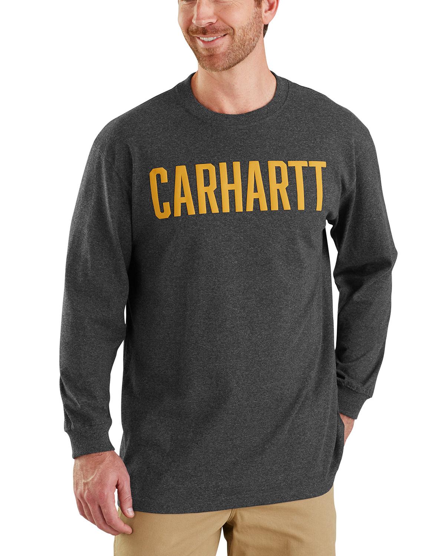 7264a78a252 Carhartt Men s Workwear Block Logo Long Sleeve T-Shirt