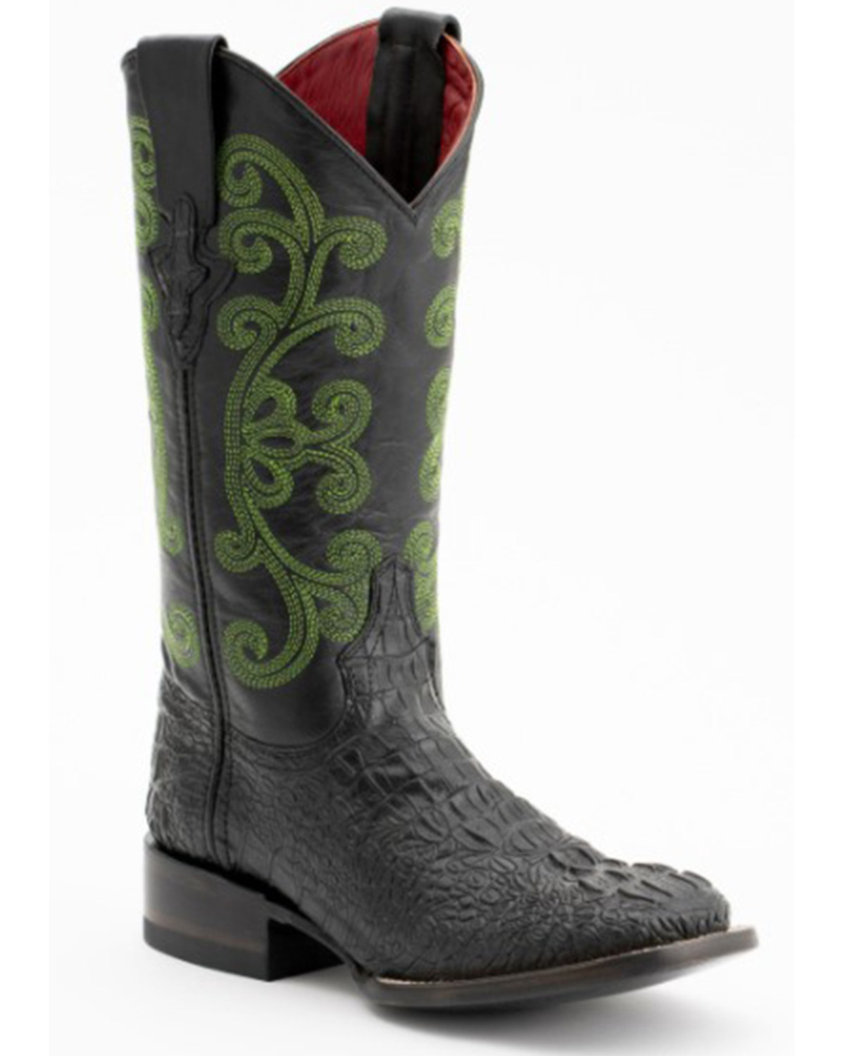 b321b72e058 Ferrini Caiman Croc Print Leather Cowgirl Boots - Square Toe