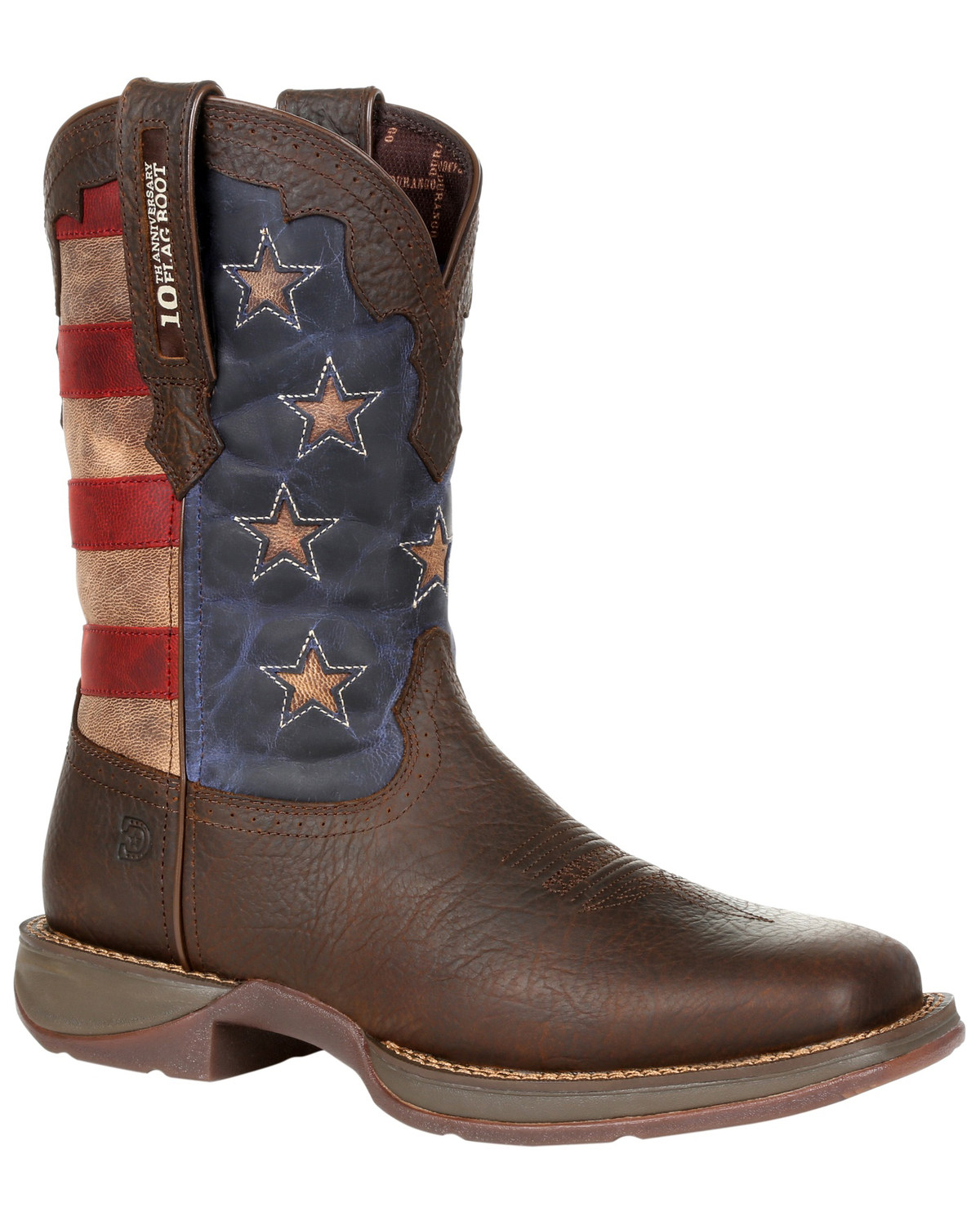 2b204f2cacd Durango Men's Red, White, & Blue Western Boots - Square Toe