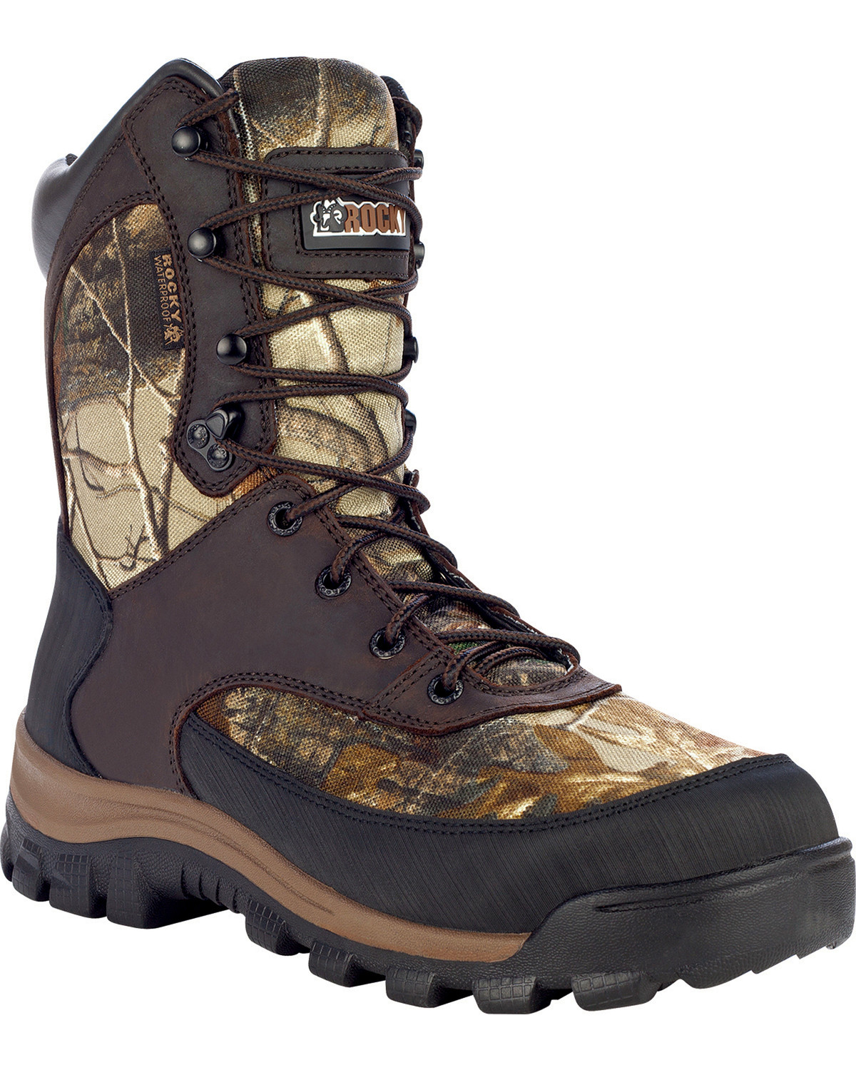 083c43d5050 Rocky Men's Camo Waterproof Hiking Boots