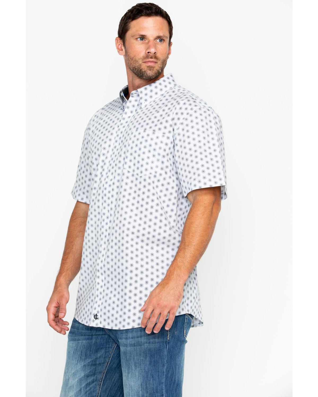 7cbca8b436 Cody James Men s White Orbit Print Short Sleeve Western Shirt