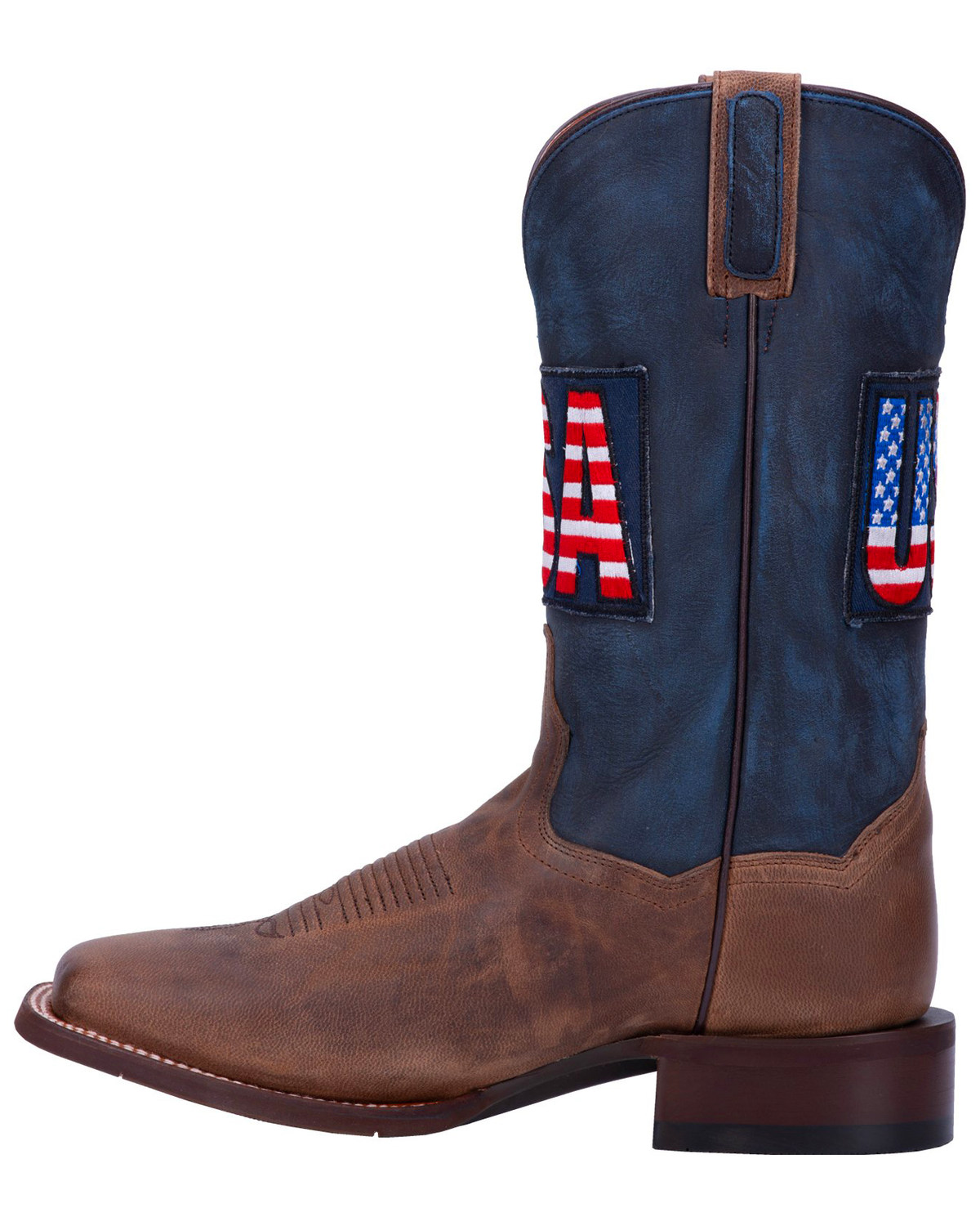 Dan Post Men S Usa Sand Goat Western Boots Wide Square