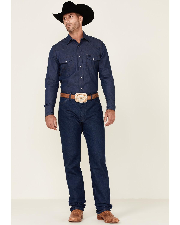 7bc2efff Zoomed Image Wrangler Men's 13MWZ Prewashed Regular Fit Jeans - Tall,  Indigo, ...