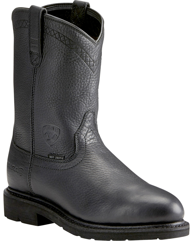f91f6fa7a4af Ariat Sierra Men s Black Work Boots - Steel Toe