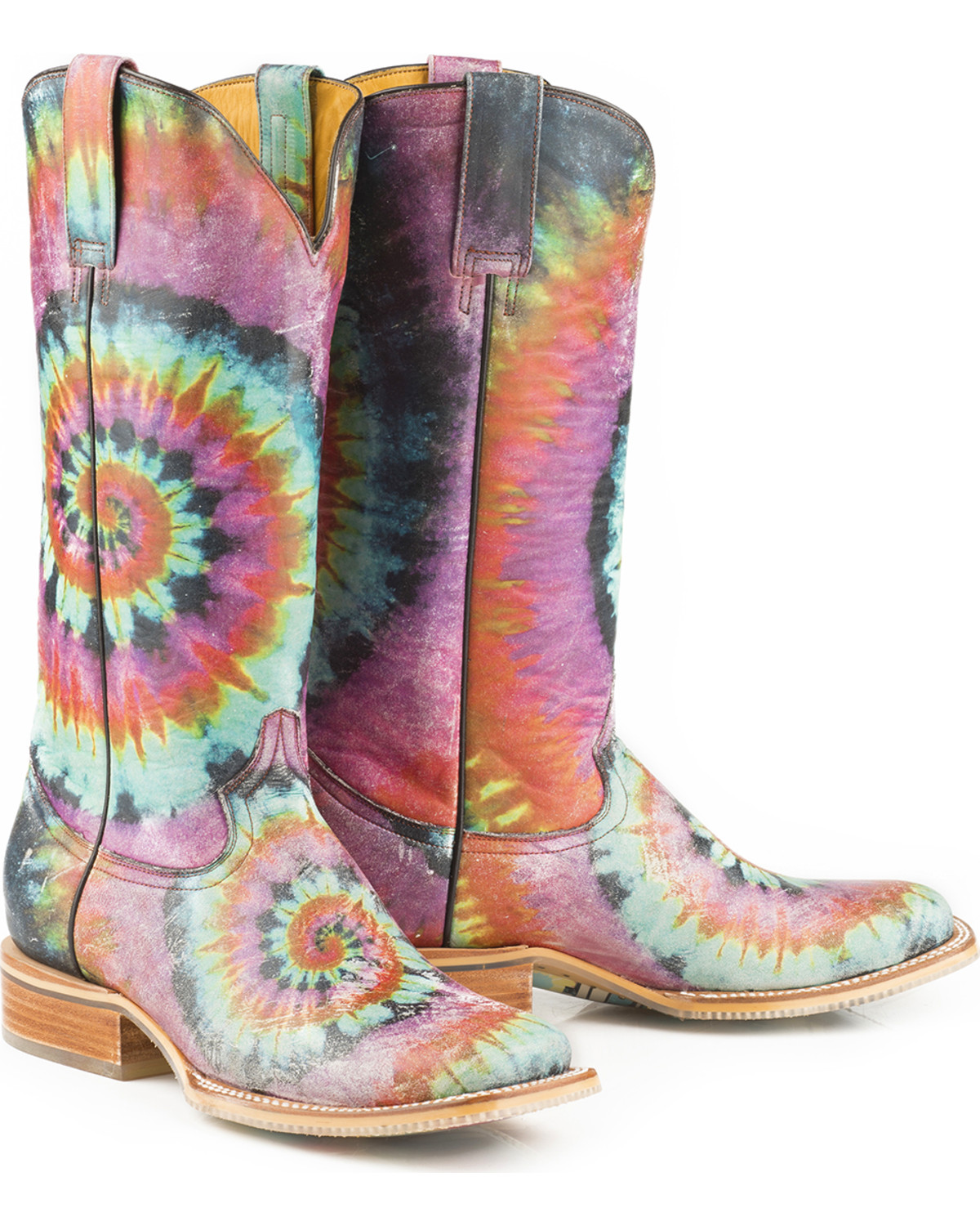 Tin Haul Women S Groovy With Tie Dye Camper Sole Cowgirl