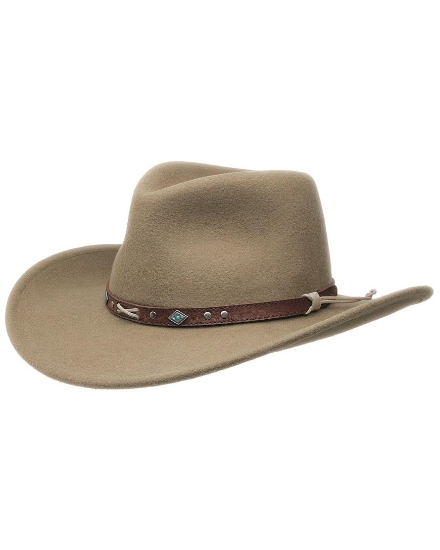 Black Creek Crushable Wool Felt Hat  b5140d6ff72f