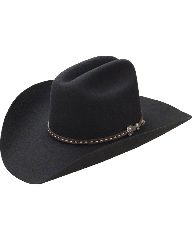 fb267f299ee85 Master Hatters Men s Black TY 3X Wool Felt Cowboy Hat
