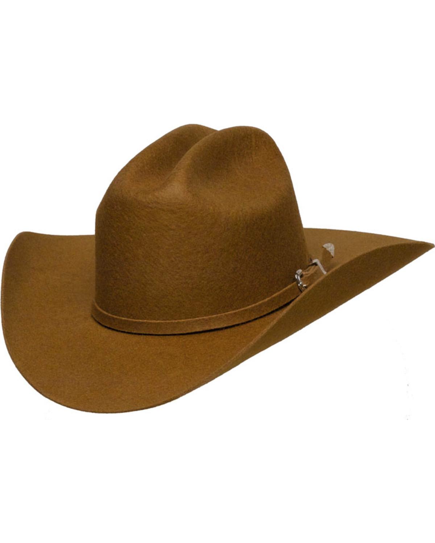 Western Express Men s Brown Wool Felt Cowboy Hat  df70176f77b