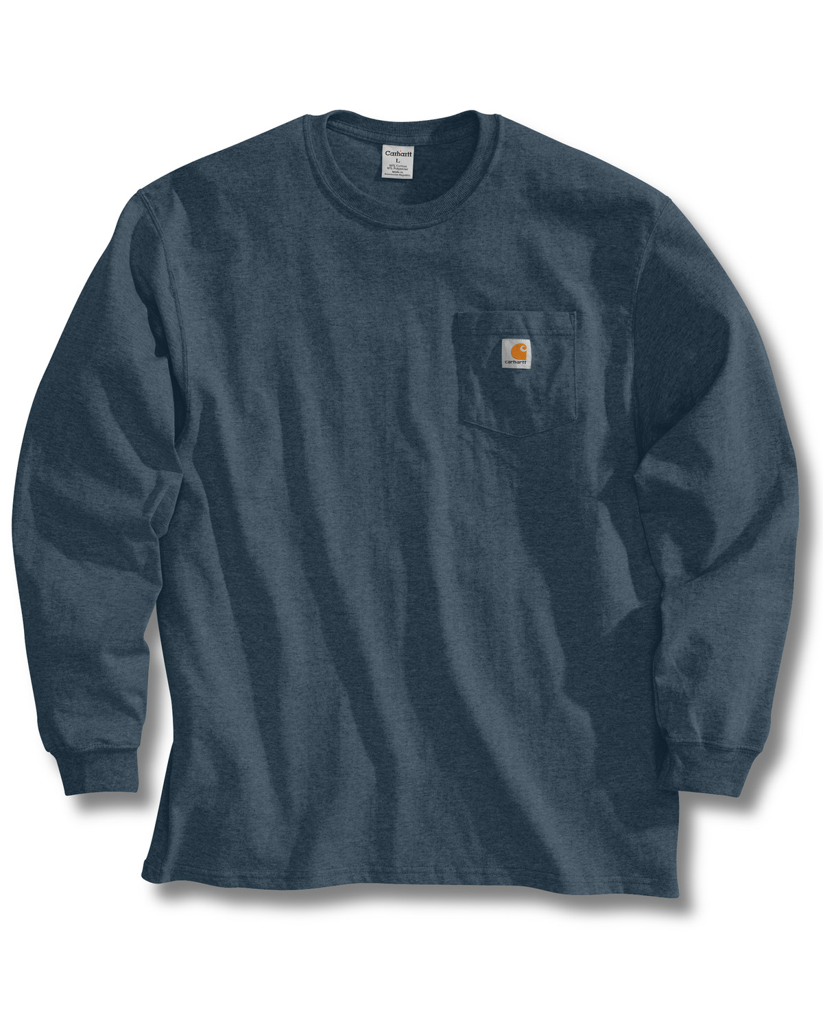 fea7be2c632d Zoomed Image Carhartt Men's Long Sleeve Work T-Shirt, Blue Stone, ...