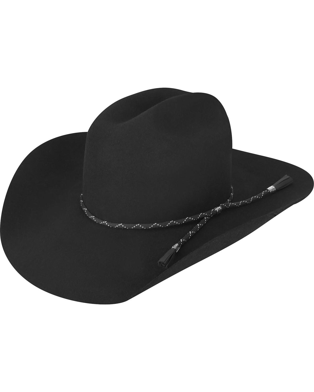 dd61e0ae7 Bailey Men's Black Zippo 2X Wool Felt Cowboy Hat