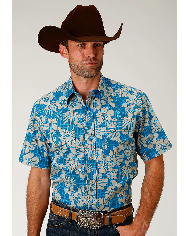 e1a903e3cf5 Mens Short Sleeve Western Shirts With Snaps - BCD Tofu House