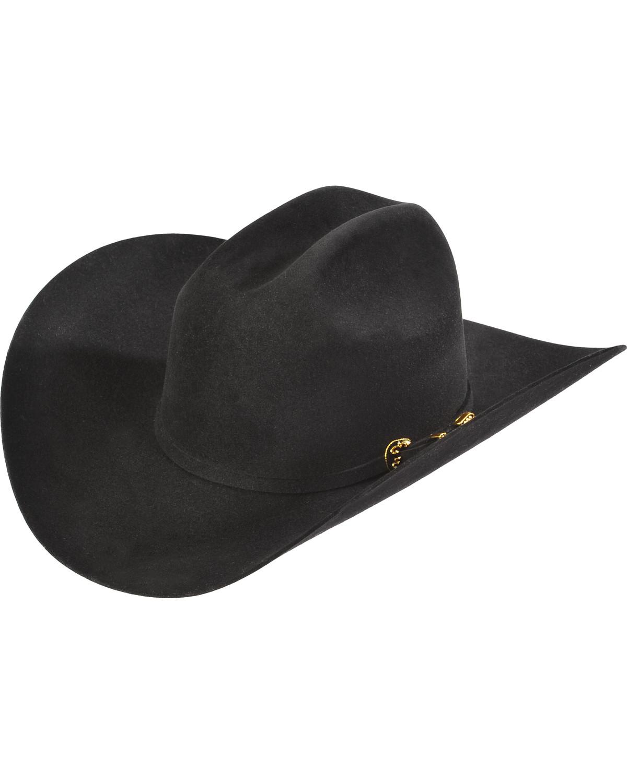 Serratelli Men s Black 6X Fur Felt Latigo Cowboy Hat  a8d19b917f1d