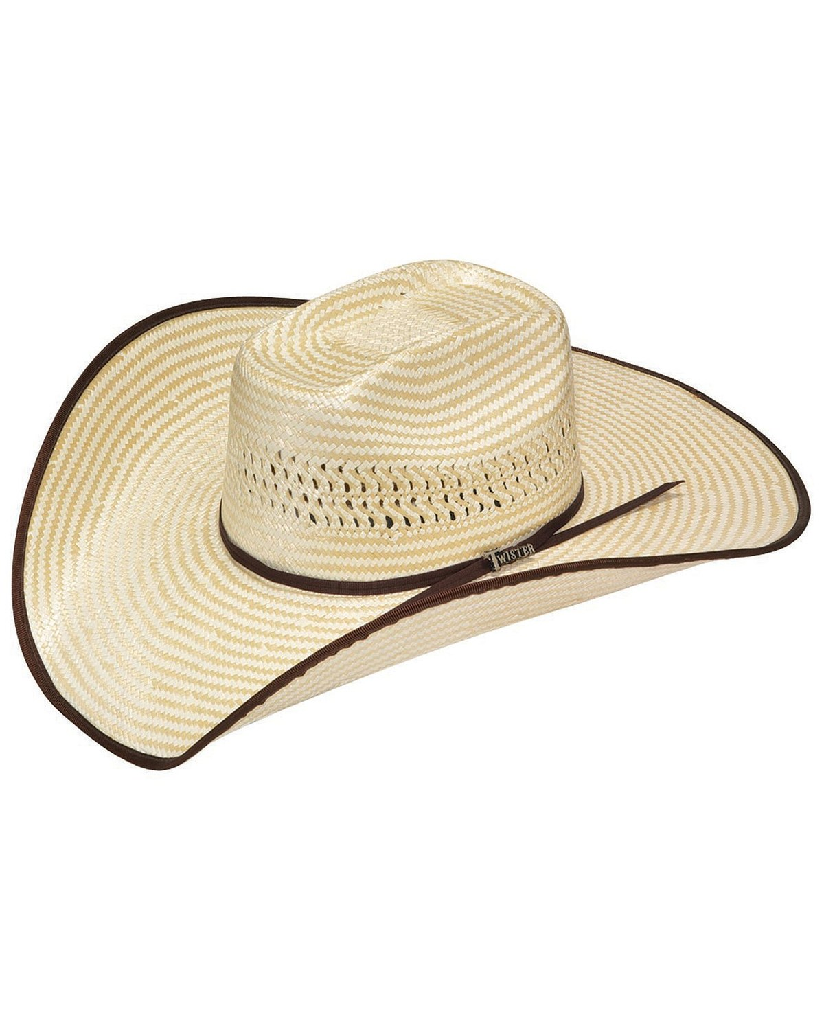 1fa8158d6 Twister Houston Bound Edge Poly Rope Straw Cowboy Hat