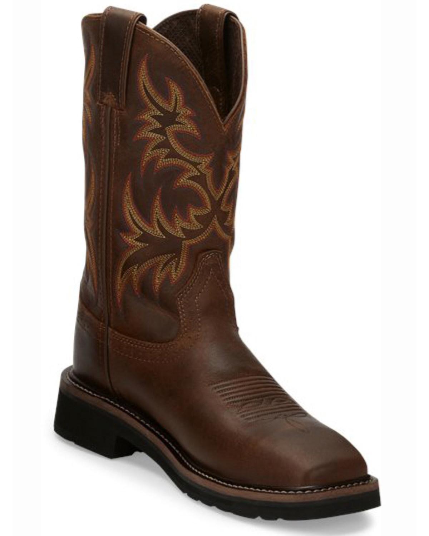 Justin Women S Stampede 11 Quot Steel Toe Western Work Boots