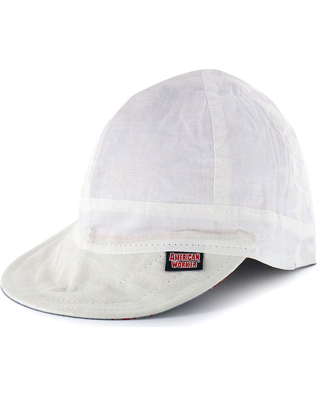 American Worker Men s White Welding Cap  da6be8f9da0